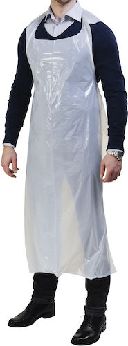 Engångsförkläde i plast 100 st/frp